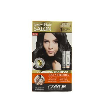 Lover's Hair Salon Colouring Shampoo 1 NATURAL BLACK