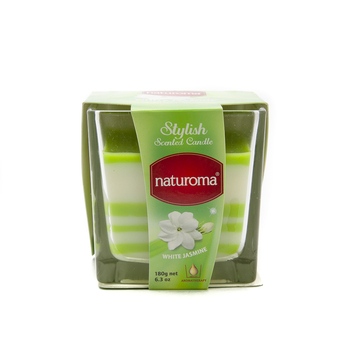 Naturoma Air Freshener Scented Candles 180g White Jasmine