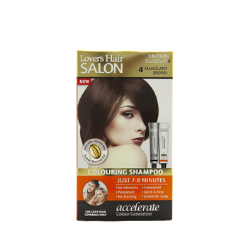 Lover's Hair Salon Colouring Shampoo 4 MAHOGANY BROWN