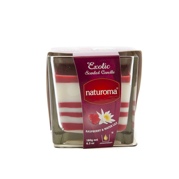 Naturoma Air Freshener Scented Candles 180g Raspberry & Water Lily